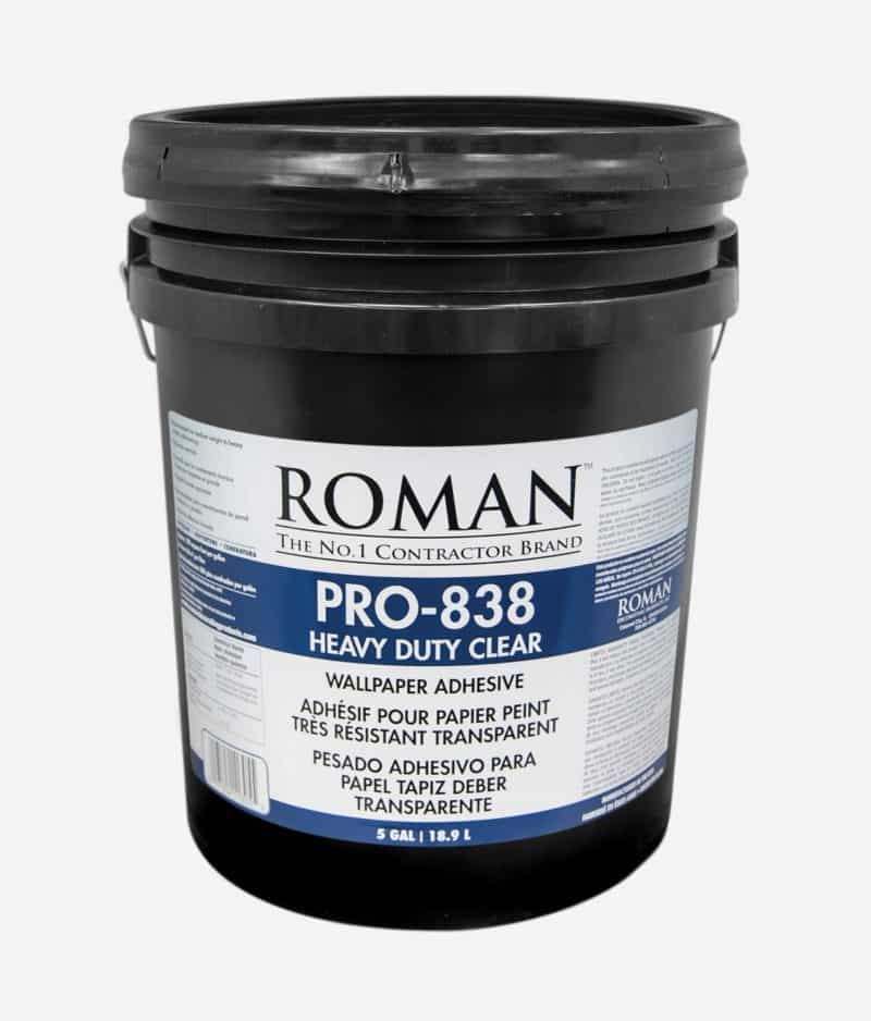 PRO-838 Heavy Duty Clear Wallcovering Adhesive 5-Gallon