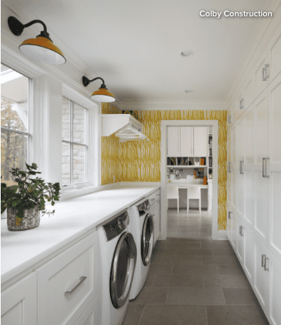 Wallpaper in Laundry Room - Roman Products